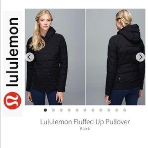 BNWOT Lululemon Black Fluffed Up Jacket 10